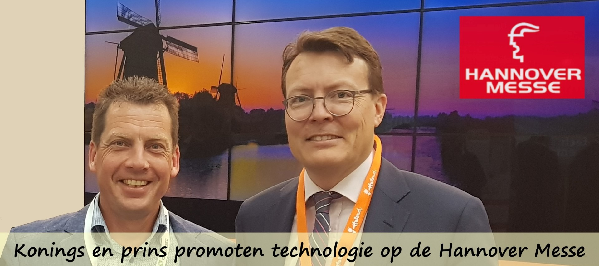 Hannover Messe with Prince Constantijn
